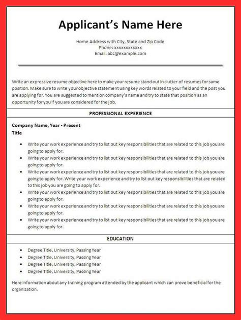 Resume Drafts by Draft Resume Images Gallery Draft Resume Sle