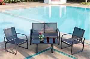 Salon De Jardin Textilene : salon de jardin lychee pas cher 1 table basse 2 ~ Dailycaller-alerts.com Idées de Décoration