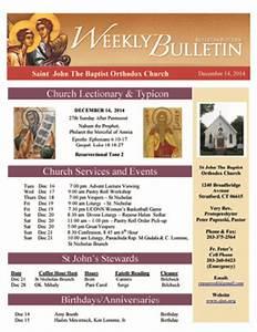 weekly bulletin st nicholas orthodox church With weekly bulletin template
