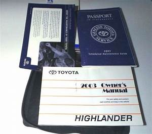 2003 Toyota Highlander Owners Manual Book