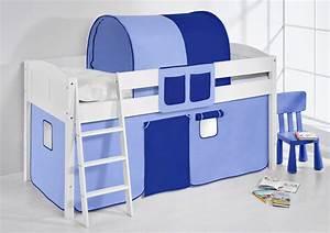 Vorhang über Bett : spielbett hochbett kinderbett bett umbaubar zum einzelbett inkl vorhang ebay ~ Markanthonyermac.com Haus und Dekorationen