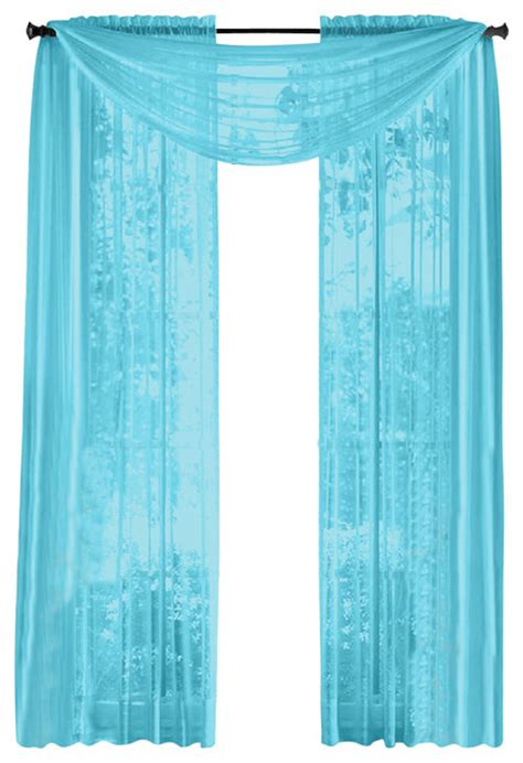 Blue Sheer Curtains Uk by Hlc Me Pair Of Sheer Panels Window Treatment Curtains
