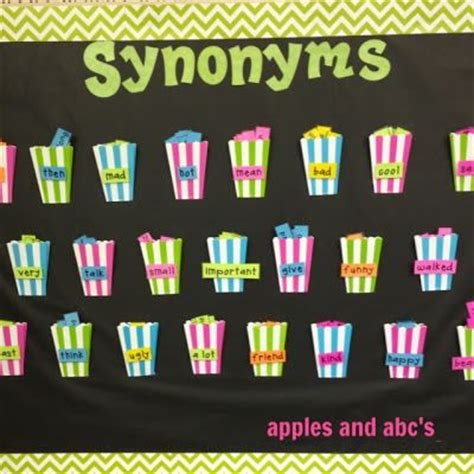 decoration synonym in synonym bulletin board when students get stumped with