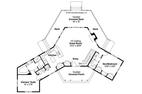 open floor plan home designs lodge style house plans greenview 70 004 associated