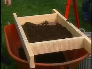 Video: How to Make a Soil Sifter for Your Garden Martha