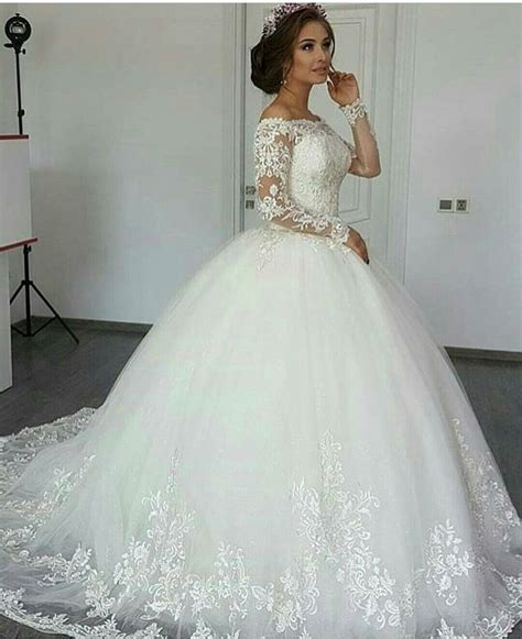 Long Sleeve Wedding Dress Ivory Wedding Dress Wedding