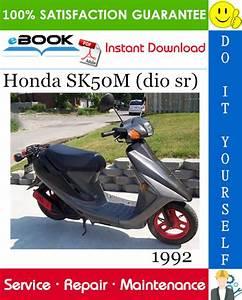 Best  U2606 U2606 1992 Honda Sk50m  Dio Sr  Scooter Service Repair