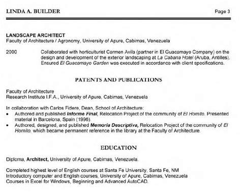 resume sle 187 architect resume sle free resume