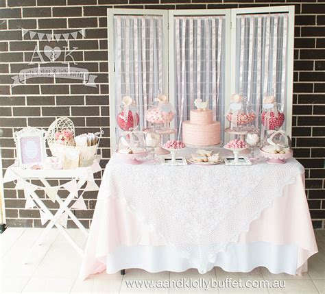 pink dessert table baby shower pretty in pink baby shower