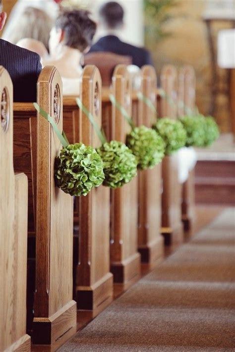 Diy Church Wedding Decor Green Flower Balls Aisle Decor