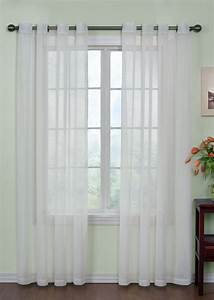 Curtain fresh tm sheer grommet curtains white white for Grommet curtains with sheers