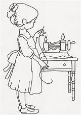 Sewing Coloring Pages Sew Princess Machines sketch template