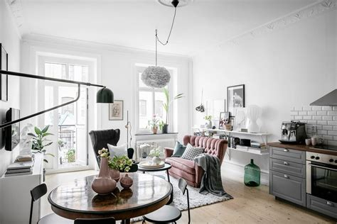Small Scandinavian Apartment Open Airy Design by Welcoming Scandinavian Apartment Preserves Historic Charm