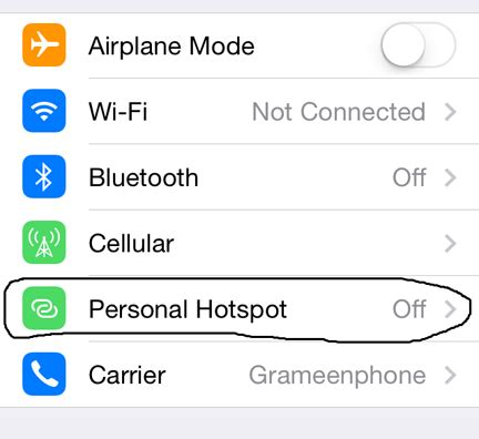 how to setup a hotspot on iphone how to setup personal hotspot on iphone 4