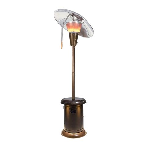 mirage 38 200 btu heat focus gas patio heater with speaker