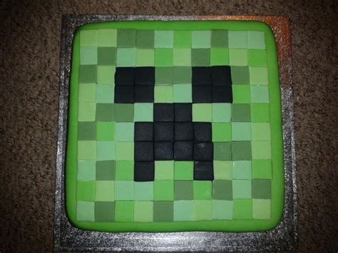 minecraft creeper cake creeper cake made with colored fondant minecraft