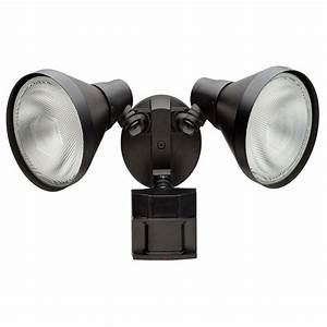 defiant 180 degree black motion sensing outdoor security With outdoor garage lights with camera