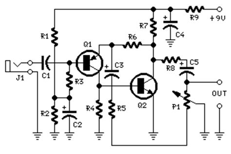 How Build Portable Microphone Preamplifier Circuit