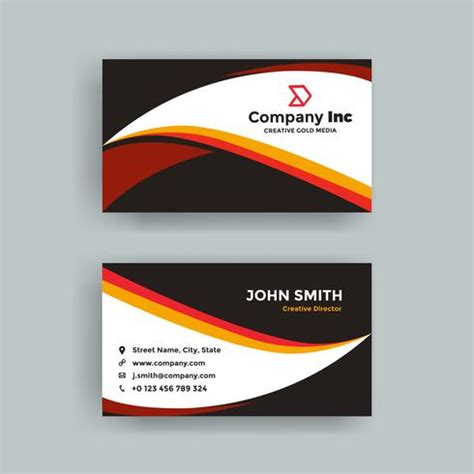 black orange business card   vectors