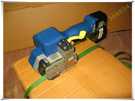 buy  battery powered operated plasticpet strapping machine electric