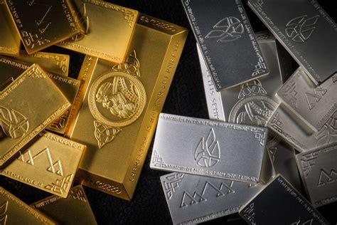 Fondo de Pantalla de Lingotes, Oro, Plata, Metales, Brillo