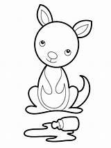 Kangaroo Coloring Pages Printable Koala Drawing Kangaroos Tree Draw Cartoon Clipart Sheets Animal Clipartpanda Clipartmag Getcolorings Craft Pa Australian Pouch sketch template