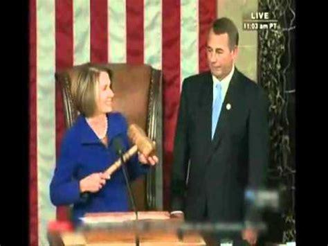 pelosi gavel smack speaker   house boehner hits