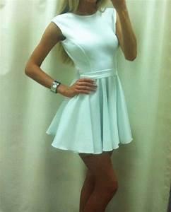 Dress: cute dress, white dress, short dress, prom dress ...