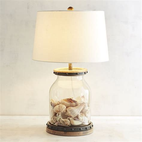 fillable seashell beach decor table l malibu mart
