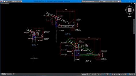 detail talang  konstruksi baja talang autocad tempat tujuan