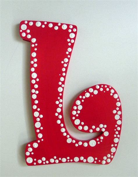 dotted hand painted letter  match room decor