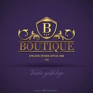 Logo design boutique ouro baixar vetores gratis for Clothing logo design software