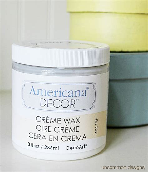 Americana Decor Creme Wax Application by Paper Mache Gift Boxes Uncommon Designs