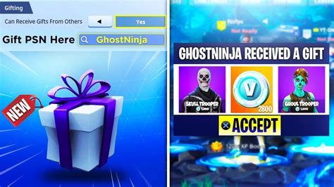 gift  items  bucks  fortnite battle royale