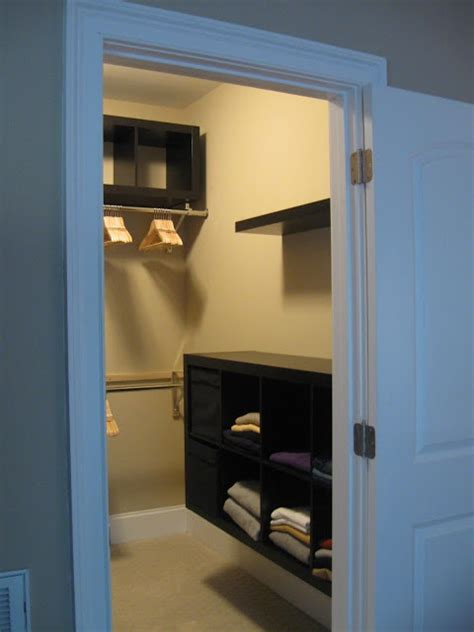 ikea hackers expedit closet small walk in design