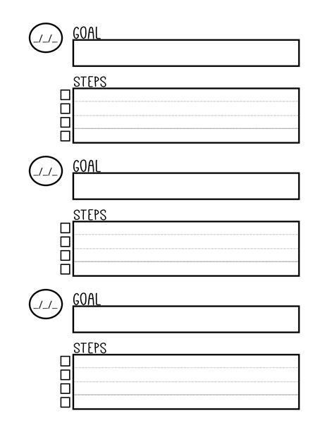 free printable goal setting worksheet planner