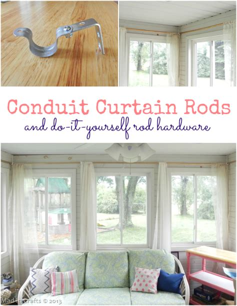 pvc conduit curtain rods and diy rod hardware mad in crafts