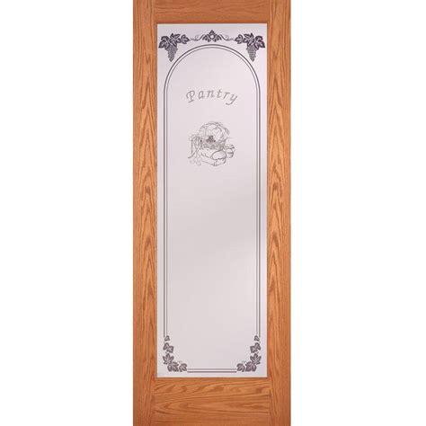home depot glass interior doors feather river doors 24 in x 80 in pantry woodgrain 1