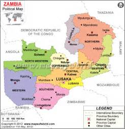 Zambia Political Map