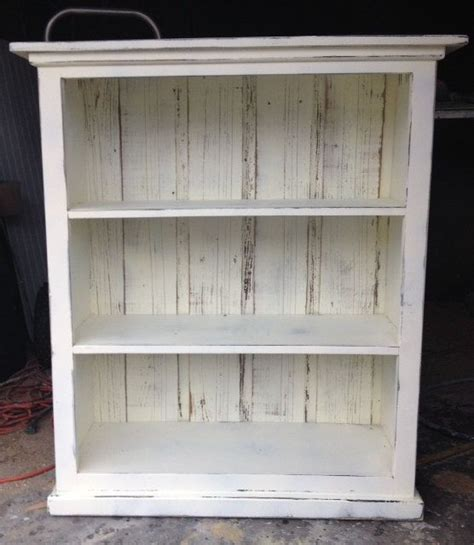 shabby chic bookcases bookcase cream distressed shabby chic ready to ship