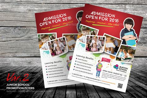 junior school promotion flyers  kinzi graphicriver