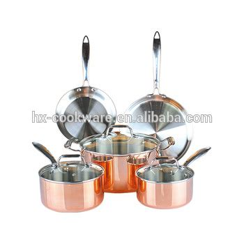 pc hammered cookware set copper clad buy cookware set copperpure copper cookwarecopper clad