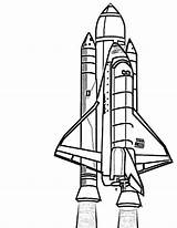 Shuttle Space Coloring Pages Rocket Nasa Ship Drawing Clipart Discovery Rockets Outline Spacecraft Realistic Print Spaceship Printable Sheet Houston Getdrawings sketch template
