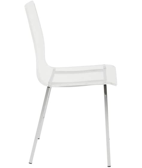 Stella Clear Acrylic Side Chair  Home And Office