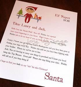 elf letter elf on the shelf pinterest With elf on the shelf christmas letter from santa