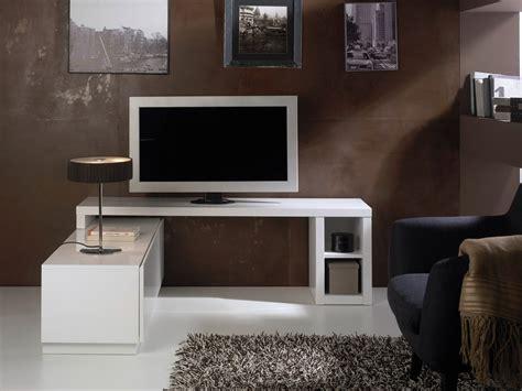 armoire bureau intégré meuble tv modulable axe laqué blanc meuble évidence