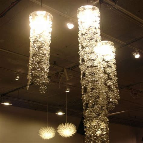 in photos chandeliers made from recycled materials