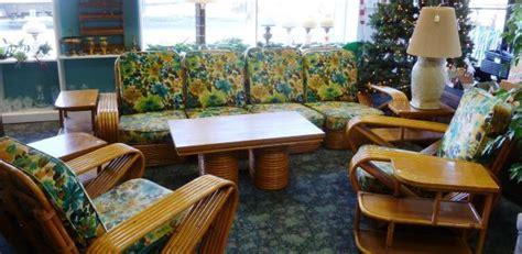 paul frankl rattan vintage  pc furniture tiki
