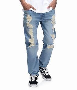 Leviu0026#39;s Razza Ripped Medium Blue 502 Jeans | Zumiez