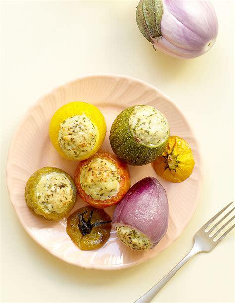 cuisine legumes petits légumes farcis au poulet pour 4 personnes